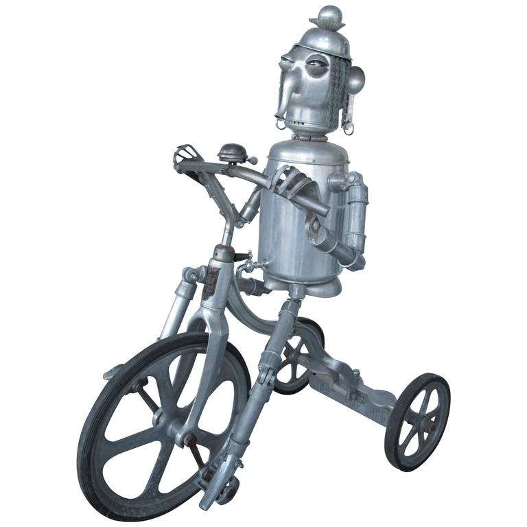 Robot Riding an Aluminum Tricycle For Sale