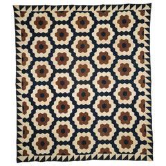 """""""Mosaic Hexagons"""" Antique Quilt"""
