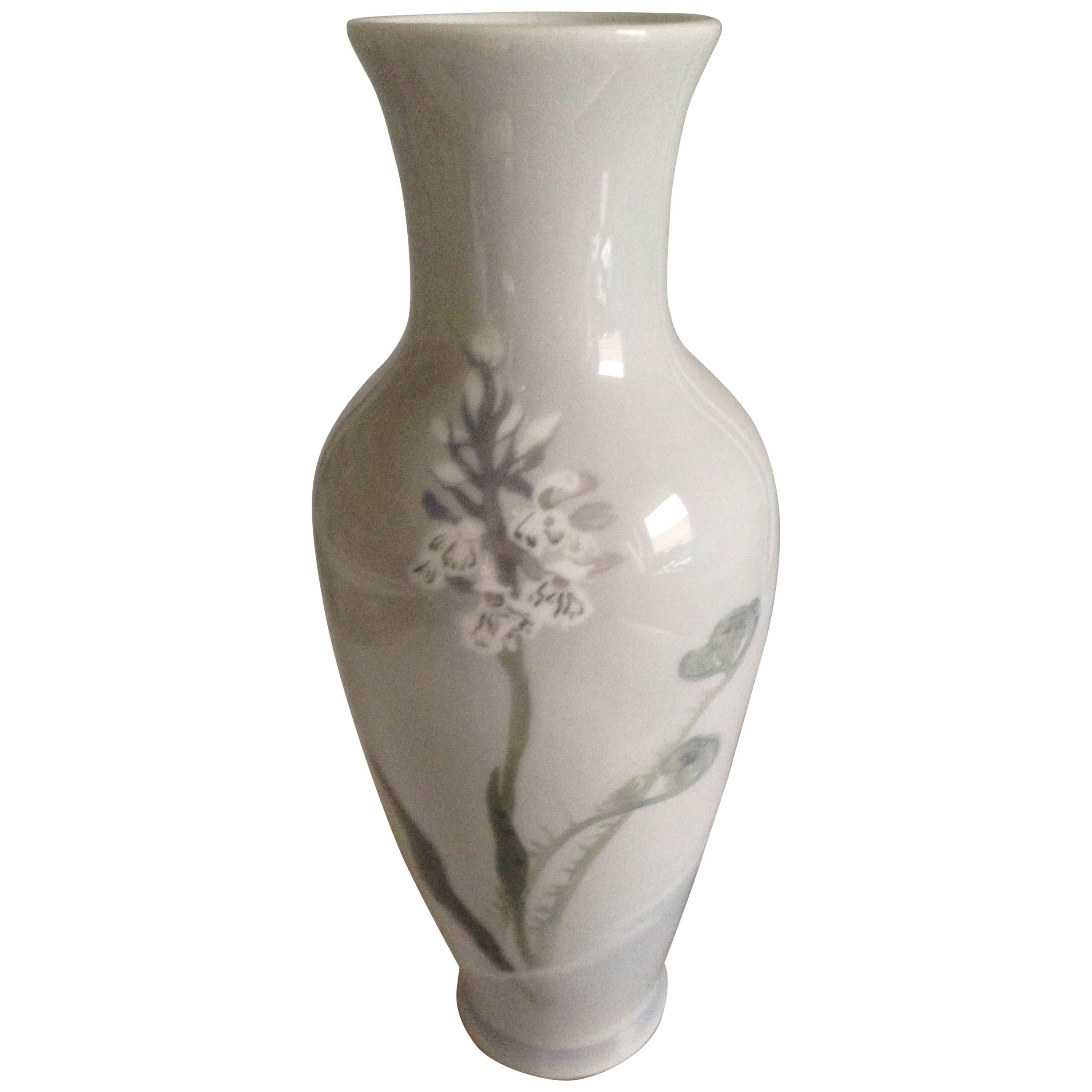 Royal Copenhagen Unique Art Nouveau Vase by Marianne Host, 1896