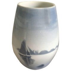 Early Bing & Grøndahl Unique Vase by Fanny Garde with Ships
