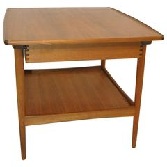 Mid-Century Danish Modern Teak Side Table by Moredo