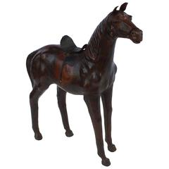 French Leather Horse Model