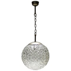 Large Glass Pendant by Doria Germany