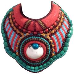 Vintage Statement Beaded Collar Necklace