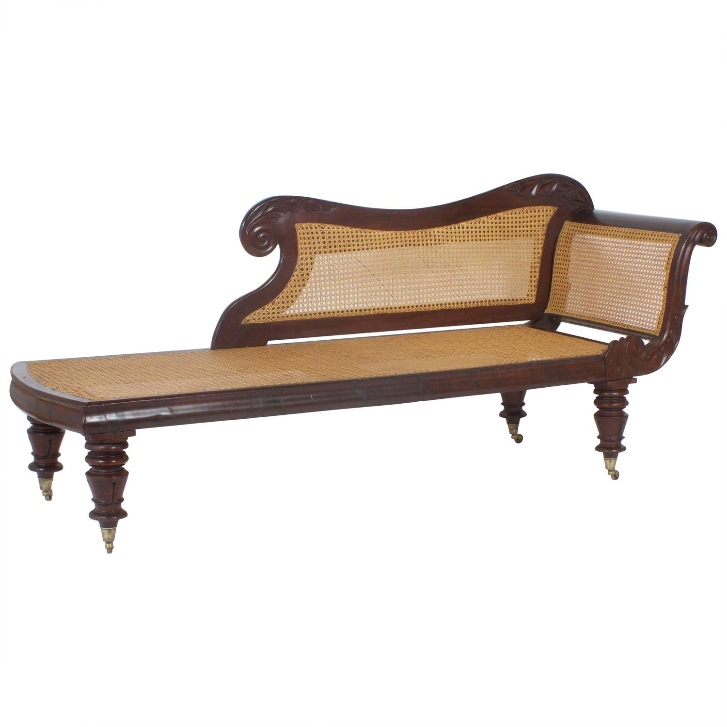 West Indies Caned Chaise Lounge Or Longue Pair A Possibility At 1stdibs