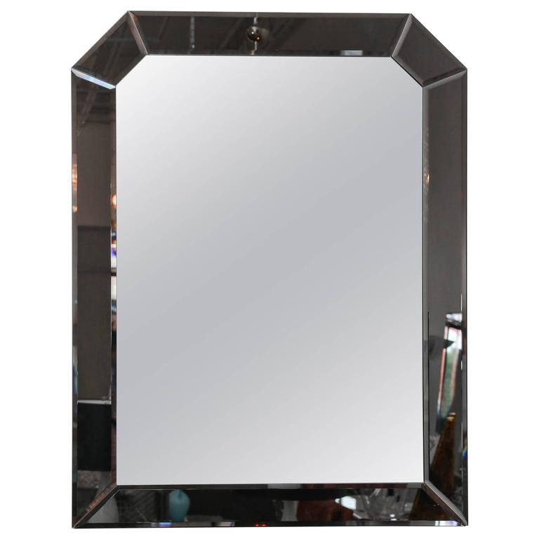 Large bevelled geometric hollywood glamour decorative wall for Decorative wall mirrors for sale