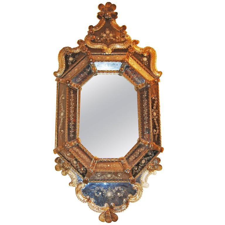 19th Century Venetian Murano Mirror For Sale