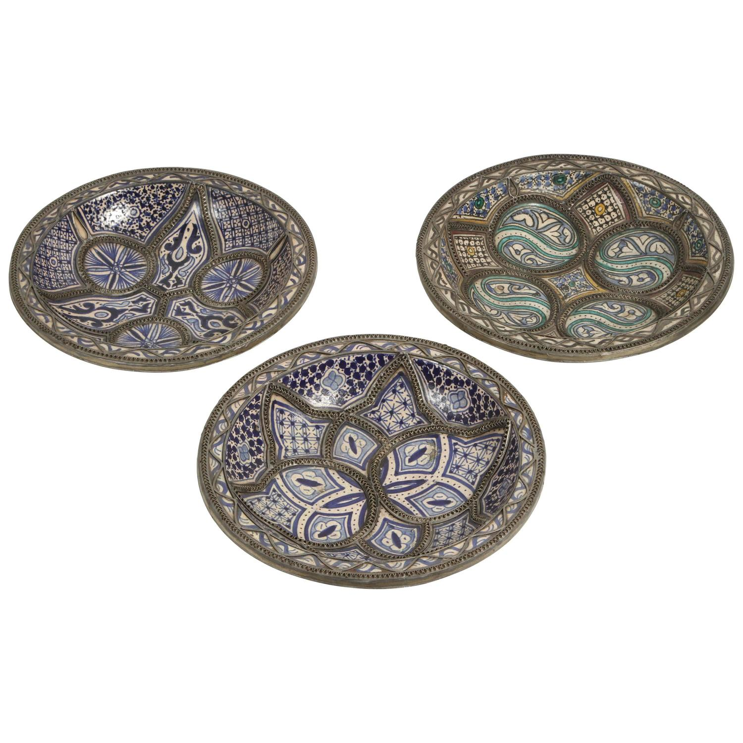 Set Of Three Ceramic Decorative Plates From Fez Morocco At. Large Dining Room Table Seats 12. Rooms For Rent San Antonio. Kids Bed Room Set. Cool Living Room Furniture. Fancy Dining Room. Decorative Nutcrackers. Small Decorative Lamps. Paint For Living Room