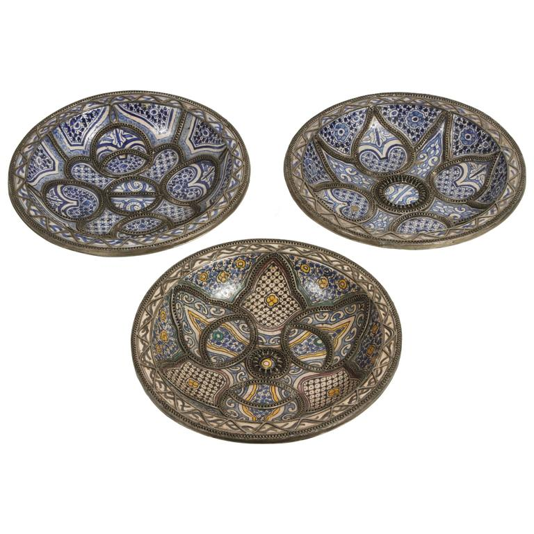 Large Decorative Ceramic Plates from Fez For Sale  sc 1 st  1stDibs & Large Decorative Ceramic Plates from Fez For Sale at 1stdibs