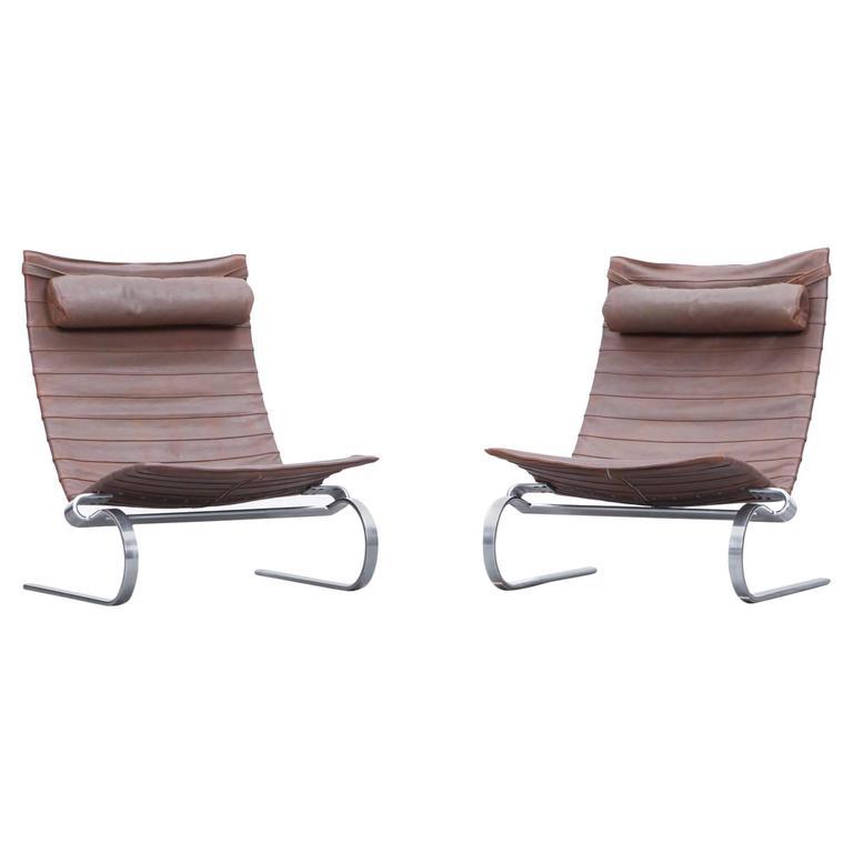 Pair of Poul Kjaerholm Lounge Chairs