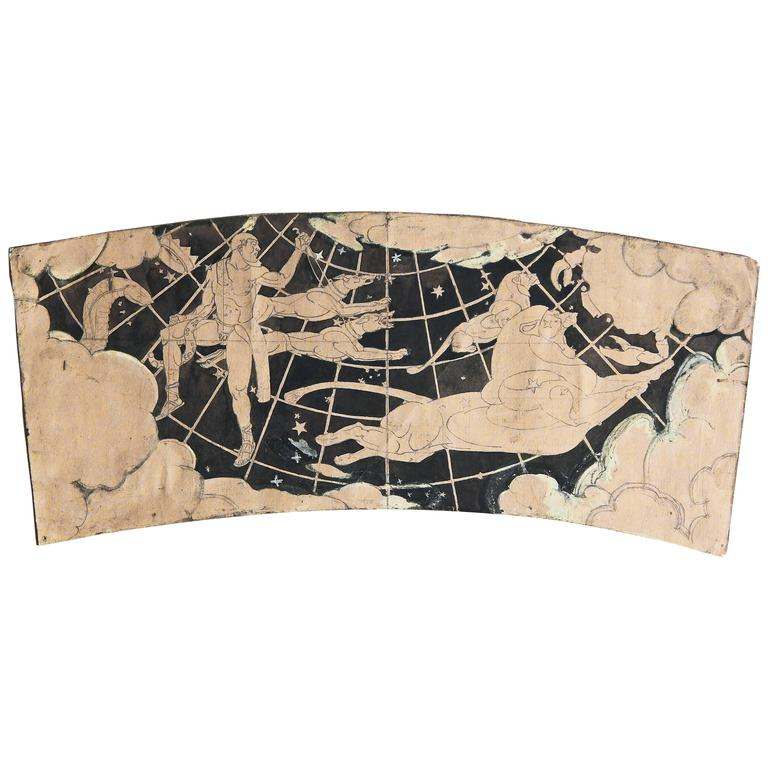 """Herdsman, Asterion & Chara,"" Rare Art Deco Mural Study, Bushnell Auditorium For Sale"