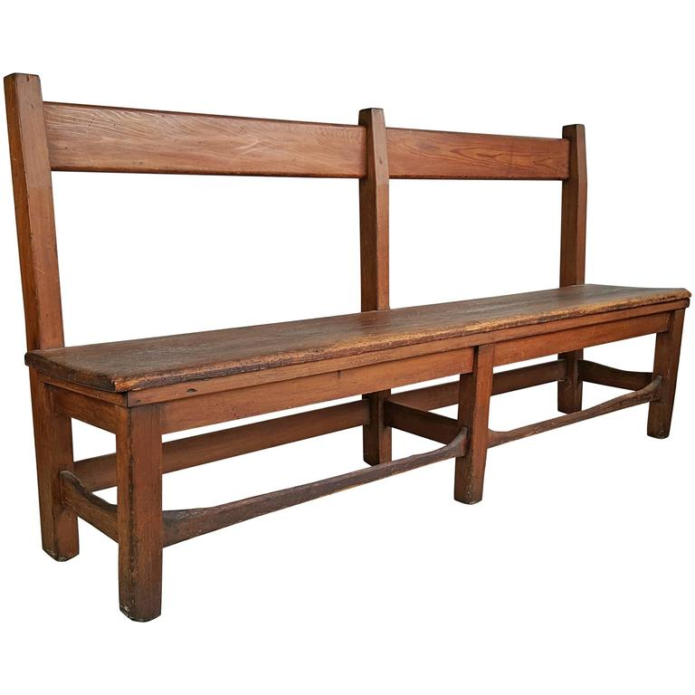 Arts And Crafts Primitive Bench Or Settee 19th Century In Style Of Stickley At 1stdibs
