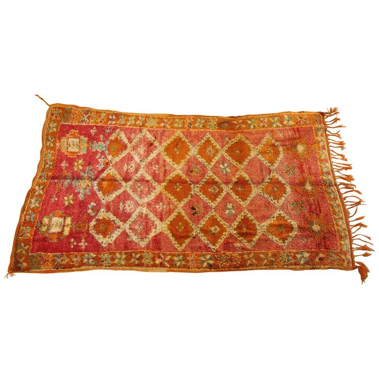 Moroccan Boucherouite Rug For Sale At 1stdibs: Moroccan Vintage Berber Rug For Sale At 1stdibs