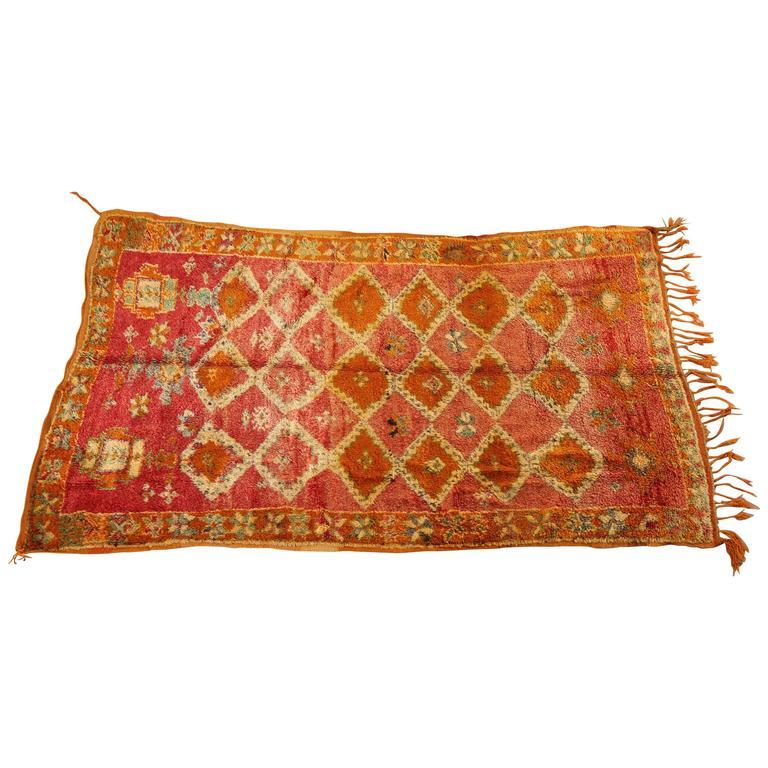 Moroccan Vintage Berber Rug For Sale At 1stdibs