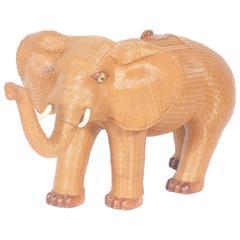 Wicker Elephant Box