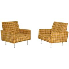 Extremely Rare George Nelson Thin Edge Lounge Chairs, 1954