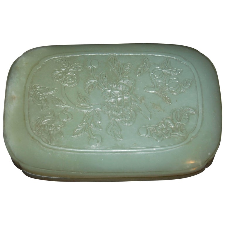Chinese Jade Box For Sale