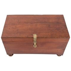 19th Century Anglo-Indian Teak Trunk, India, circa 1870