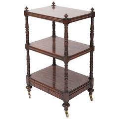 Early 19th Century Regency Faux Rosewood Etagere, England, circa 1820