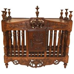 Fine Antique French Louis XVI Period Oak and Fruitwood Pannetiere, circa 1780