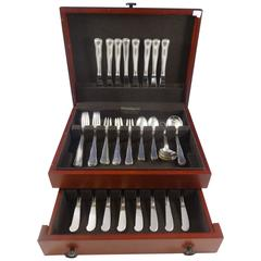 Old Danish by Cohr Sterling Silver Flatware Set for Eight Service 48 Pieces