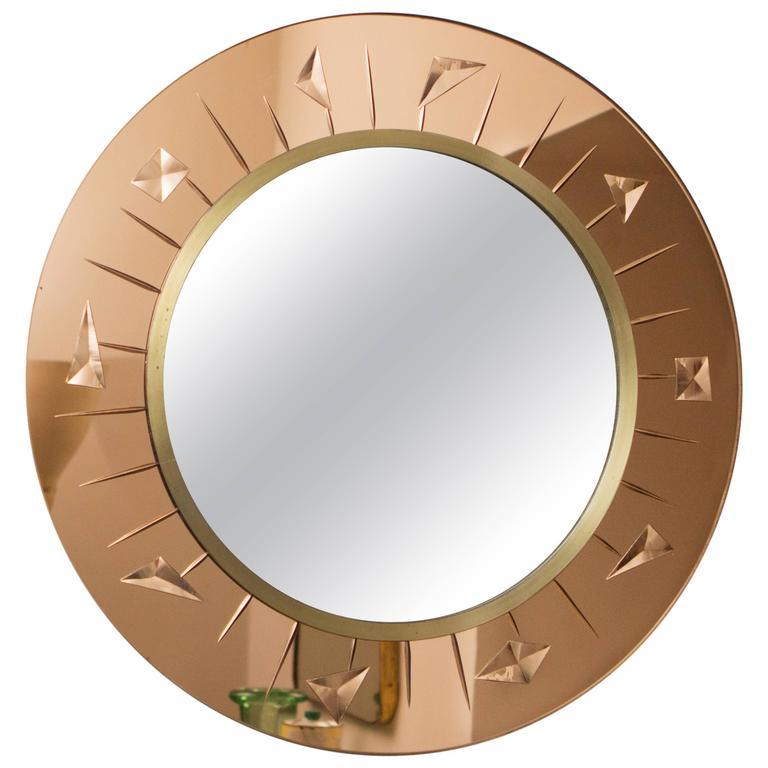 Mirror by Cristal Art, Italy, circa 1960