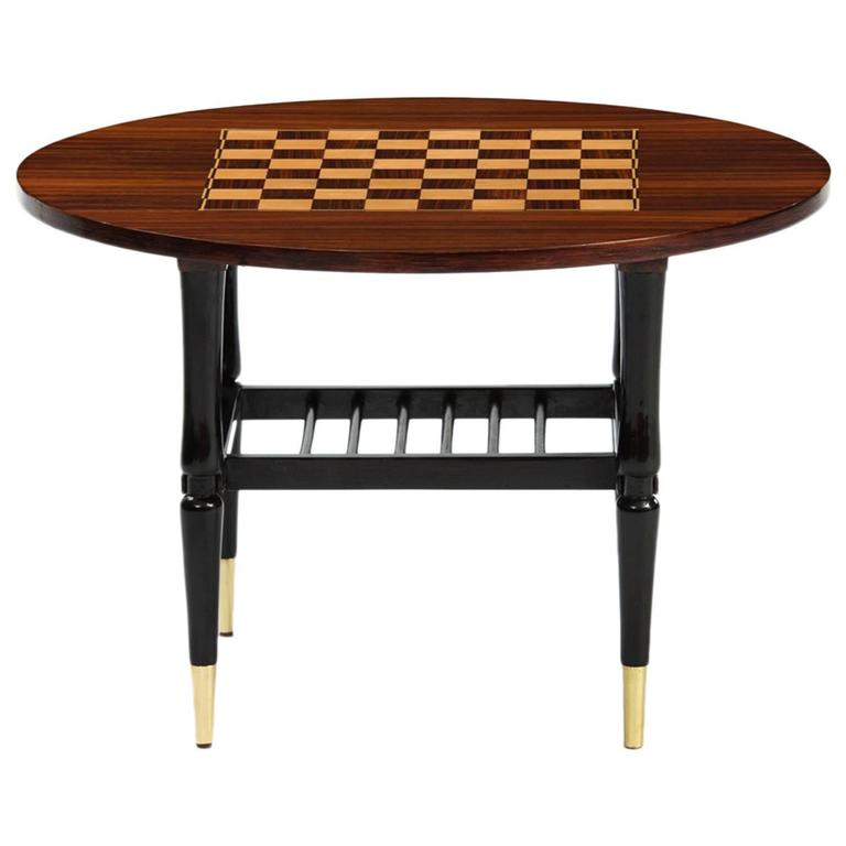 Italian Chess Side Table At 1stdibs
