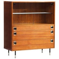 Italian Midcentury Teak Display Cabinet