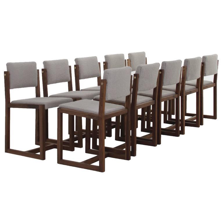 Set of Ten Pamela Dining Chairs by Thomas Hayes Studio