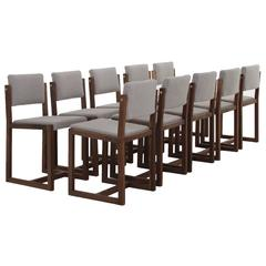Set of Ten Pamela Dining Chairs by Thomas Hayes Studio