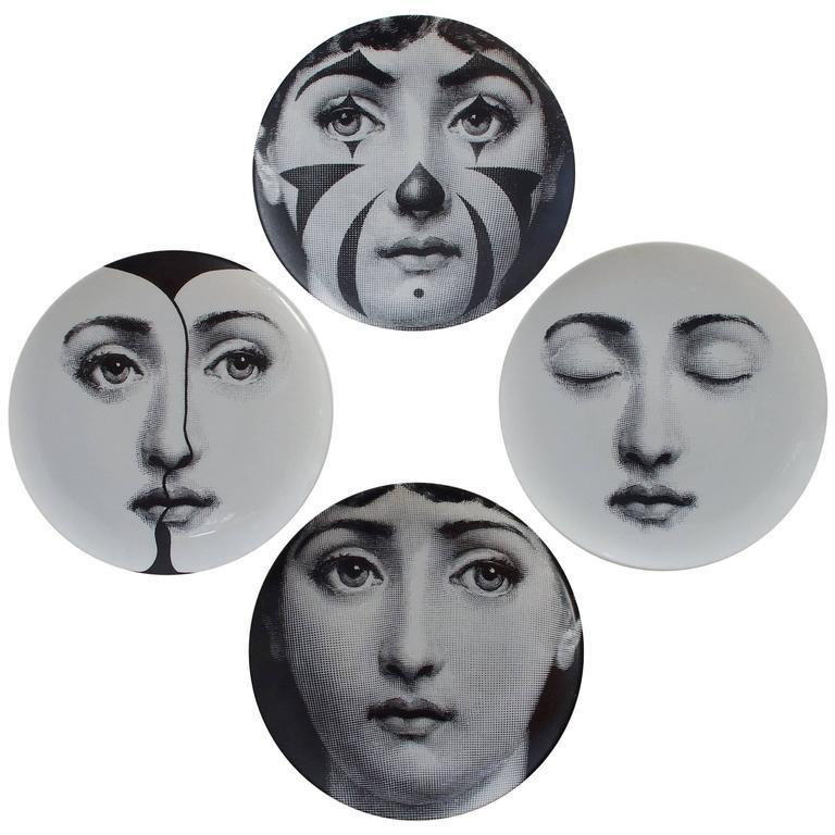 """Set of Four Piero Fornasetti """"Tema e Variazioni"""" Plates 1"""