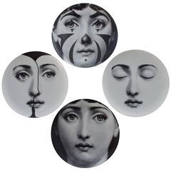 """Set of Four Piero Fornasetti """"Tema e Variazioni"""" Plates"""