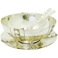 Tiffany & Co. Sterling Silver Bowl, Underplate and Salad Serving Set