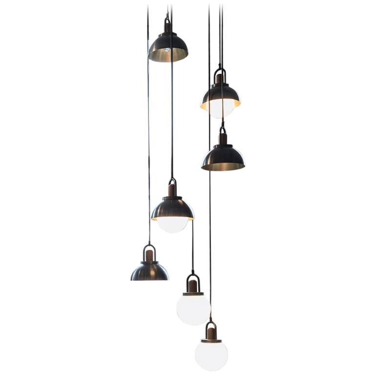 allied maker chandelier at 1stdibs. Black Bedroom Furniture Sets. Home Design Ideas