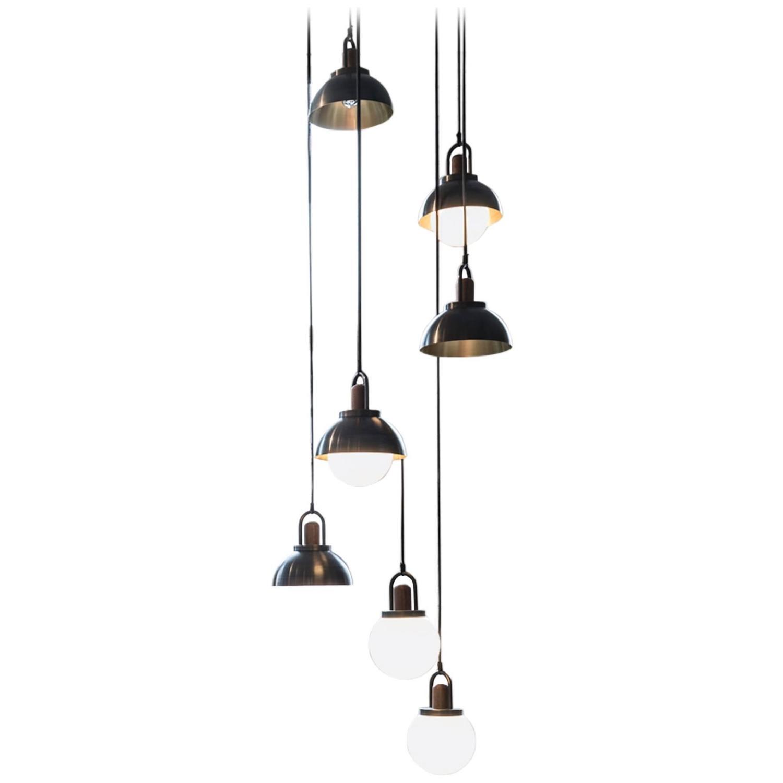 allied maker chandelier for sale at 1stdibs. Black Bedroom Furniture Sets. Home Design Ideas