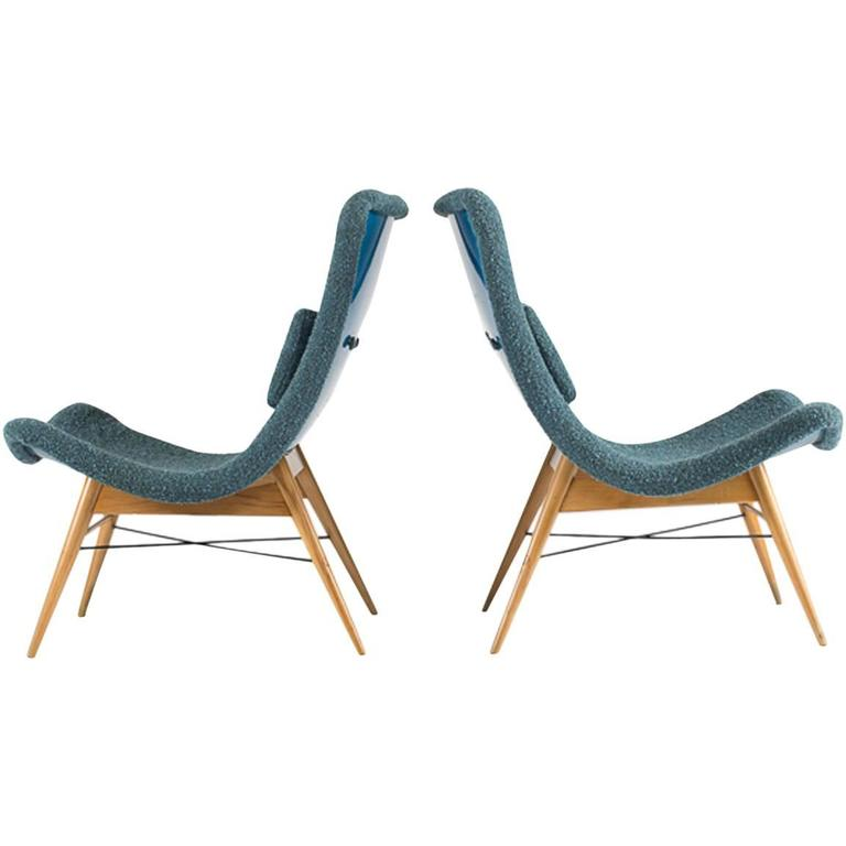Lounge Chairs by Miroslav Navratil 1