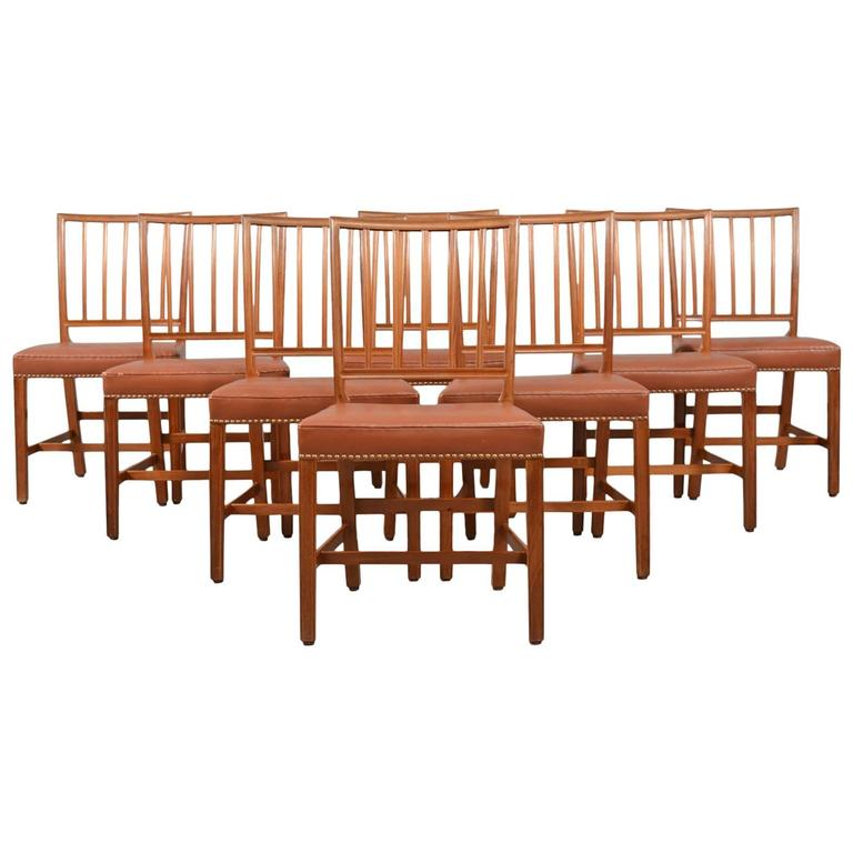 this set of eight mahogany dining chairs attributed to danish designer