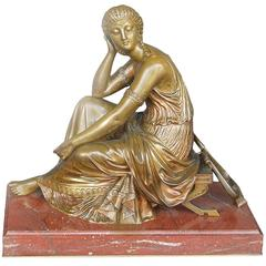 French Bronze Art Nouveau Classical Figural Women by L. Kley
