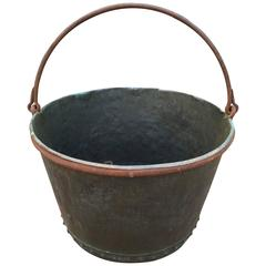 Large Early 19th Century Riveted Copper Apple Butter Pot or Cauldron