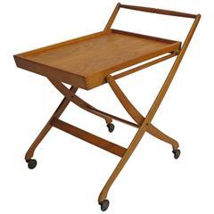 Danish Modern Folding Bar Cart