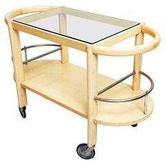 Art Deco Italian Solid Maples Cart by Fagioli Firenze, 1930