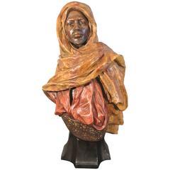 Bronze Orientalist Bust by Goldsheider 'Gardien of the Harem,' circa 1900