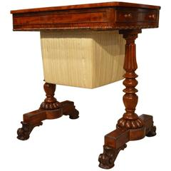 Superb Flame Mahogany Regency/William IV Period Antique Work Table
