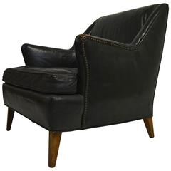 Original Leather Club Chair by John Stuart, circa 1940s
