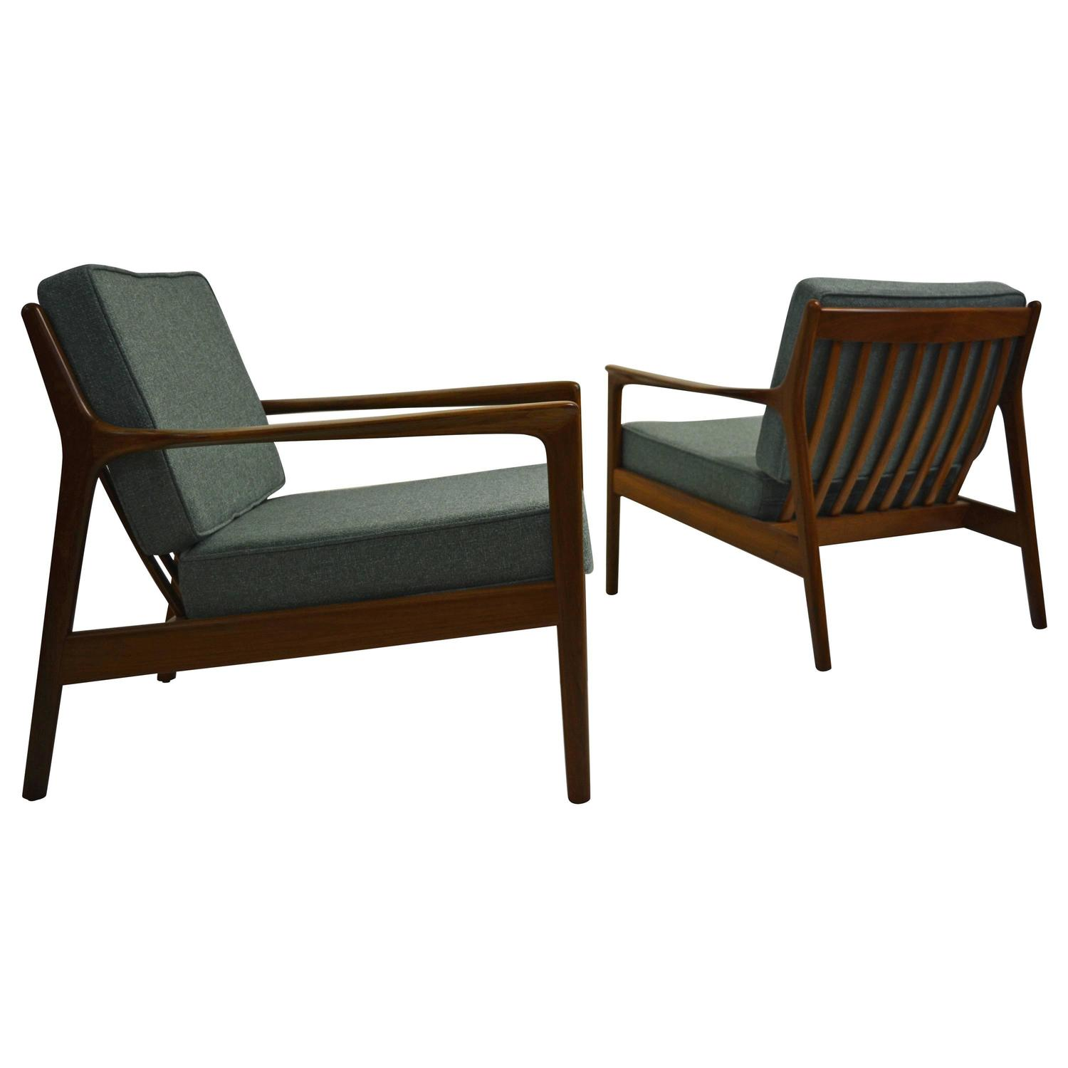Pair Of Quot Usa 75 Quot Lounge Chairs By Folke Ohlsson For Dux