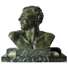 Art Deco Samac Bust of a Male