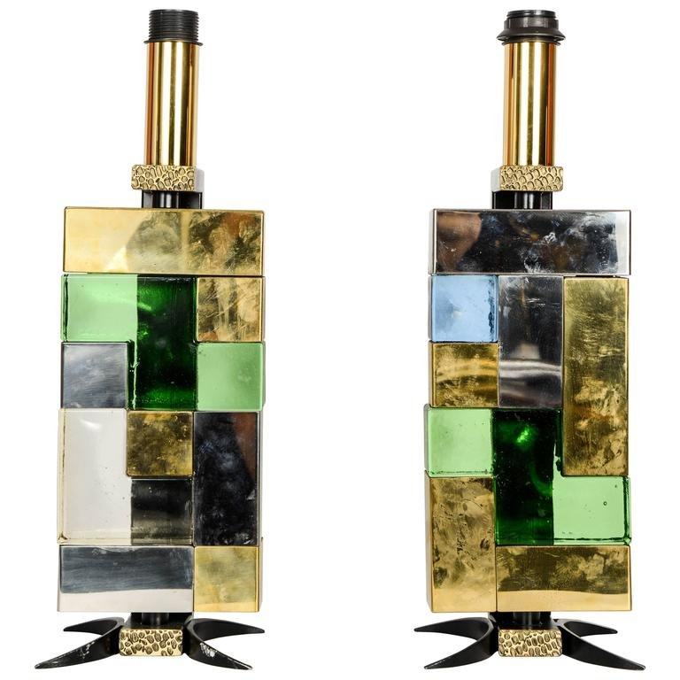 "Pair of ""Space Age"" Lamps"