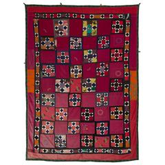 Vintage Central Asian Wall Hanging or Bed Cover