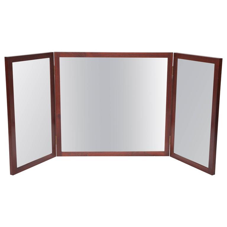Danish Rosewood Wall Mirror, circa 1960s