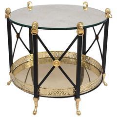 Elegant Empire Style Coffee Table, circa 1960